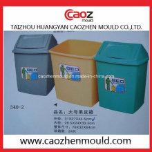 Пластиковая мусорная корзина для мусора с откидной крышкой