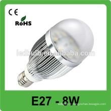MEILLEURE ampoule LED de prix, 8w a conduit l'éclairage spot, Epistar a conduit le projecteur e27 led spotlight price