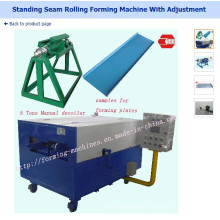 Standing Seam Rolling Forming Machine with Adjustment Standing Seam Roof Panel Machine
