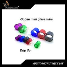 Colorful Bell Cap Goblin Mini tube en verre avec Drip Tip Goblin Tank