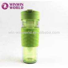 Nuevo diseño venta caliente BPA botella infusor de fruta libre 500 ml botella de agua plástica deportiva