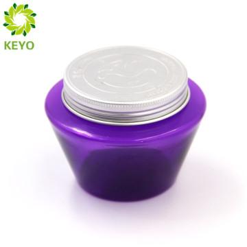 Luxury purple body lotion hair care sleep mask double wall plastic jar for cosmetics