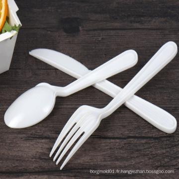 2018 nouvelle cuillère fourchette couteau en plastique moule avec la fabrication de moules d'injection de coutellerie jetable de haute qualité