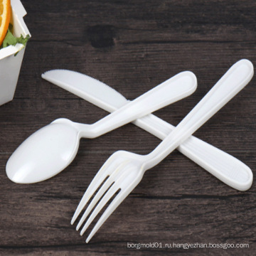 2018 новая ложка вилка нож пластиковая форма с высоким качеством одноразовые столовые приборы инъекций плесень решений