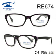 Vintage Fashion Purple Grain Reading Glasses (RE674)