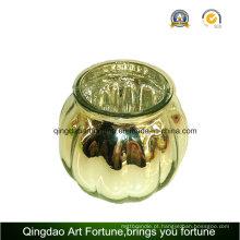 Mercury Glass Abóbora Jar para Natal Hollowen