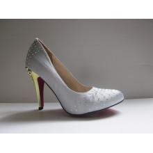 Novo estilo de salto alto vestido sapatos (hyy03-007)