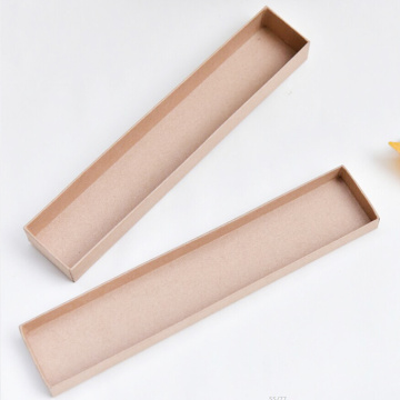 Impresso Brown Kraft paper Jewerly Colar Caixa