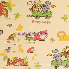 Cartoon Animal′s Car Pattern 250GSM Home Textile Canvas Fabric