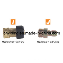 "Pressure Washer Brass Coupler (M22 swivel + 3/8"" QD)"
