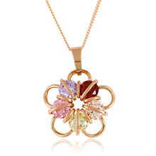 Colgante de la flor de la joyería de la manera en color del oro de Rose
