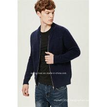 Lambs Wool Fashion Baseball Shirt Collar Men Cardigan