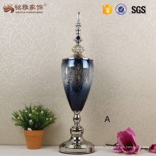 Glass vases wedding centerpiece home decorative flower vases with lid and bottom base