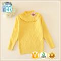 O-cou enfants tricot chandail fleur impression chandails d'hiver pour les filles enfants pulls d'automne