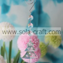 Cheapest Price 18CM Clear Transparent Acrylic Crystal X'MTS TreeParty Beaded Dropping Store