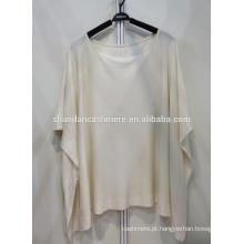Silk55% cashmere45% moleton com capuz feminino