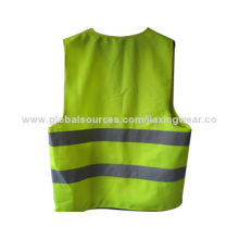 Lightweight Safety Vest, Made of 100% Polyester Material, Different Sizes, Patterns Available