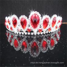 Alibaba Guangzhou Großhandel König Rhinestone Krone Weiß Rot