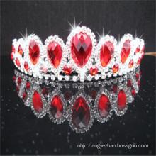 Alibaba Guangzhou Wholesale King Rhinestone Crown White Red