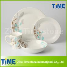 Runde Form Kundenspezifische Porzellan Geschirr