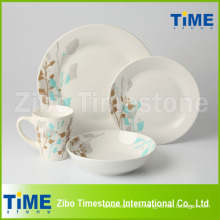 Round Shape Customized Porcelain Dinnerware