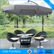 Meubles d'extérieur jardin parasol en acier inoxydable parapluie piscine