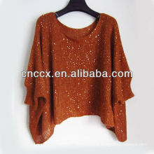 13STC5500 new design ladies knit poncho