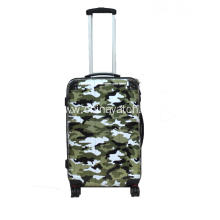 Cool PC printing luggage with camouflage pattern