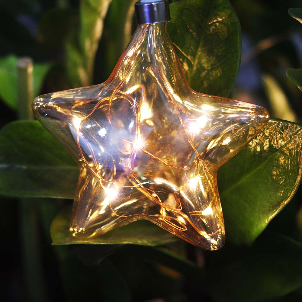Glass Star Lantern Light
