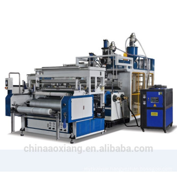 LLDPE horizontal three layers stretch film making machine