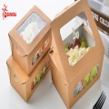 Fast Food Box Packaging with Antifogging Window