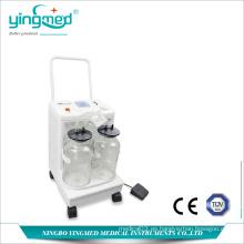 Máquina de succión eléctrica de dos botellas médica
