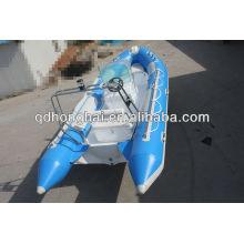 barco de casco de fibra de vidrio de lujo RIB520B con CE