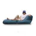 Relaxing single sofa leather fabric bean bag furniture