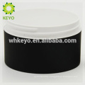 100g 150g 200g hot sale cosmetic jar black empty makeup cream jar two layers plastic plastic containers