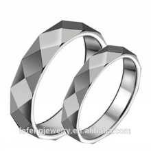Joyería de anillo muy pulida e inteligente, anillos de tungsteno plateados de moda