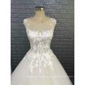 Heißer Entwurf reizvolles sleeveless Organza-Hochzeitskleid