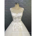Горячая дизайн сексуальный без рукавов свадебное платье из органзы