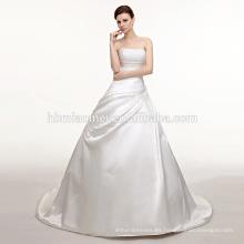 Vestido de novia de lujo de color blanco 2017 nuevo vestido de novia de cola de pez hombro conjunto de boda con diamante