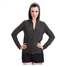 PK18A48HX Cashmere Zip Hoodies para mulheres