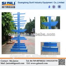 Support en porte-à-faux latéral double de stockage de tuyau d'acier