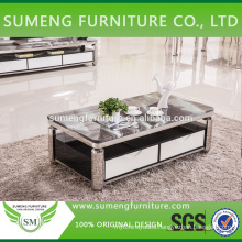 Factory direct sale square stone marble top coffee tables for living room