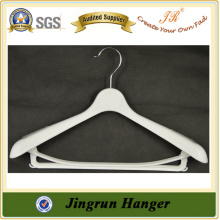 Manufacture Low Price Excellent Craft White PP Plastic Suit Hanger