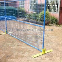 Paneles de valla temporales revestidos en polvo de 6 pies x 9,5 pies para la protección del sitio de construcción