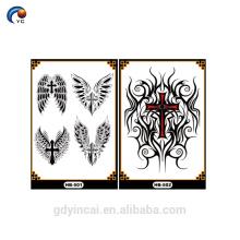 YinCai manga braço tatuagem com desenhos especiais para a pele do corpo, tatuagem adesivo temporária com alta qualidade