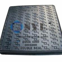 Customizable nodular cast iron double sealed manhole cover Rain Water communication circular square manhole cover