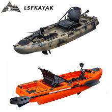 2021 LSF Foot Pedal Fishing Kayak Caiaque de pesca, peddle kajak kayak fishing with pedal