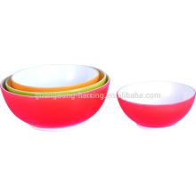 Tigelas de plástico da classe de alimento verde 4pcs/set material PP saladeira com SGS aprovado