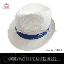 Benutzerdefinierte weiße Fedora Hüte Verkauf