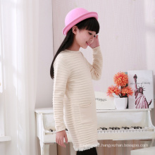 high quality winter computer knitted kids pullover sweater for girl